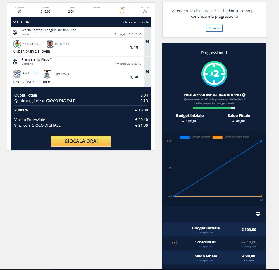 come funziona il bet system
