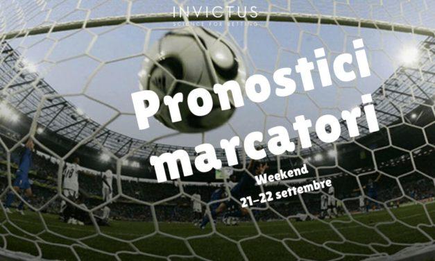 Pronostici marcatori del weekend 21-22 settembre