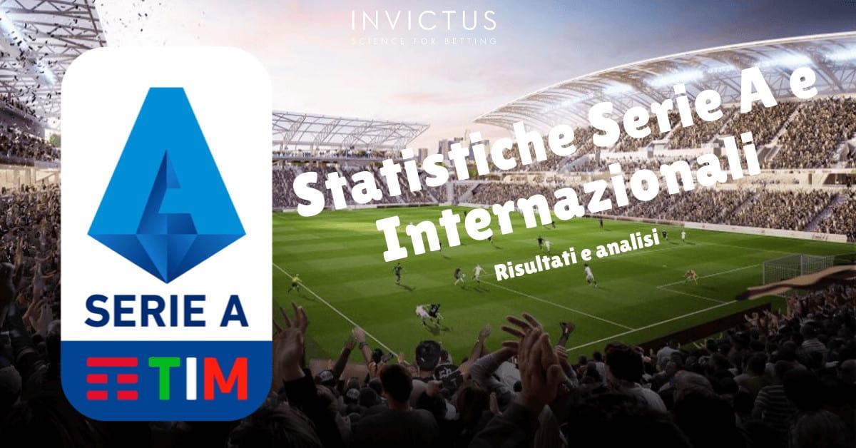Statistiche calcio Serie A e internazionali 28-29 settembre
