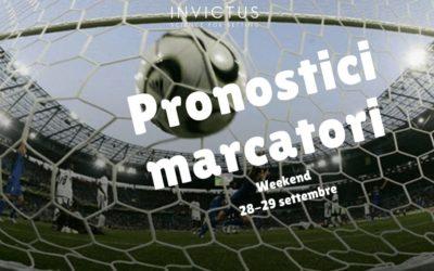 Pronostici marcatori del weekend 28-29 settembre