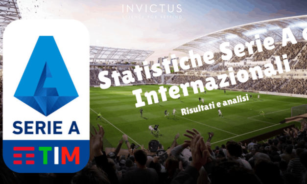 Statistiche calcio Serie A e internazionali 5-6 ottobre