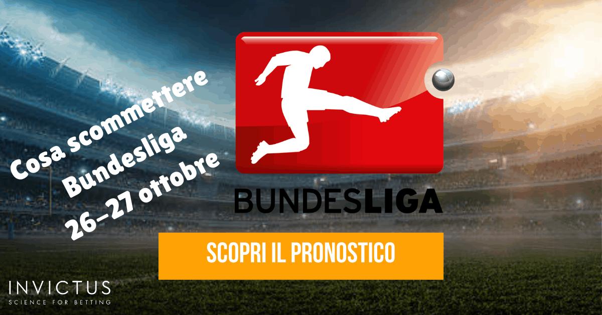 Pronostici Bundesliga: 26-27 ottobre
