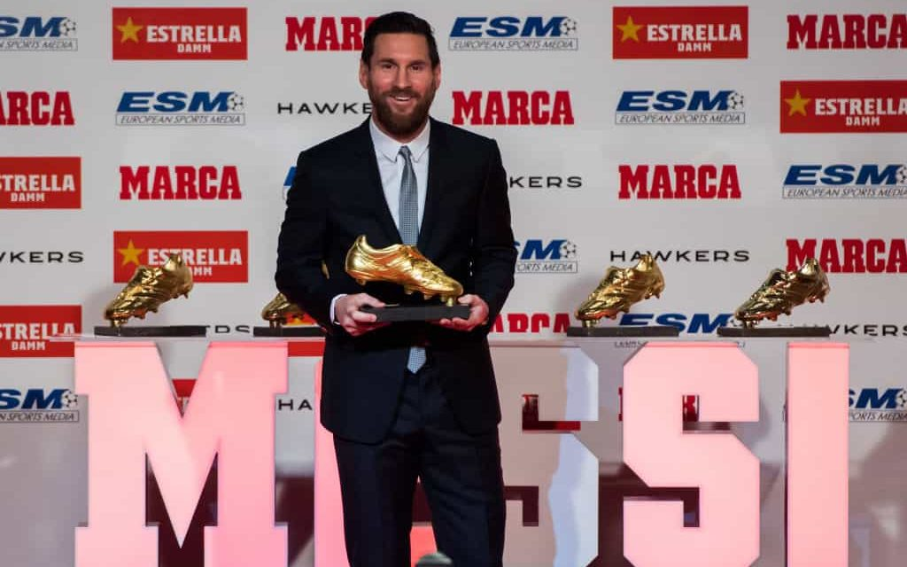 Leo Messi vince la scarpa d'oro: alle sue spalle Mbappé e Quagliarella