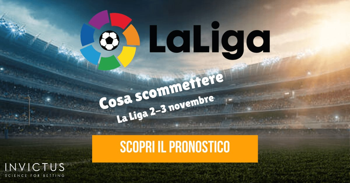 Pronostici Liga: 2-3 novembre
