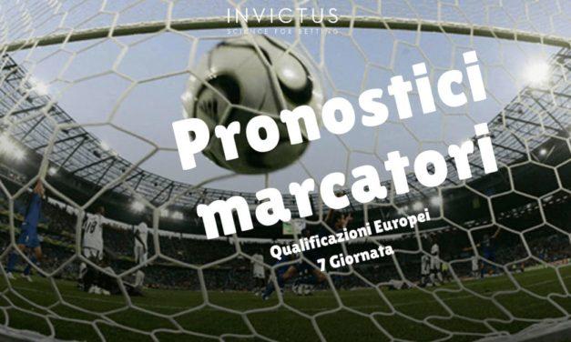 Pronostici marcatori Qualificazioni Europei 7 giornata