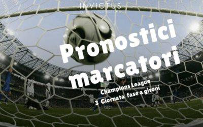 Pronostici marcatori Champions League 3 giornata