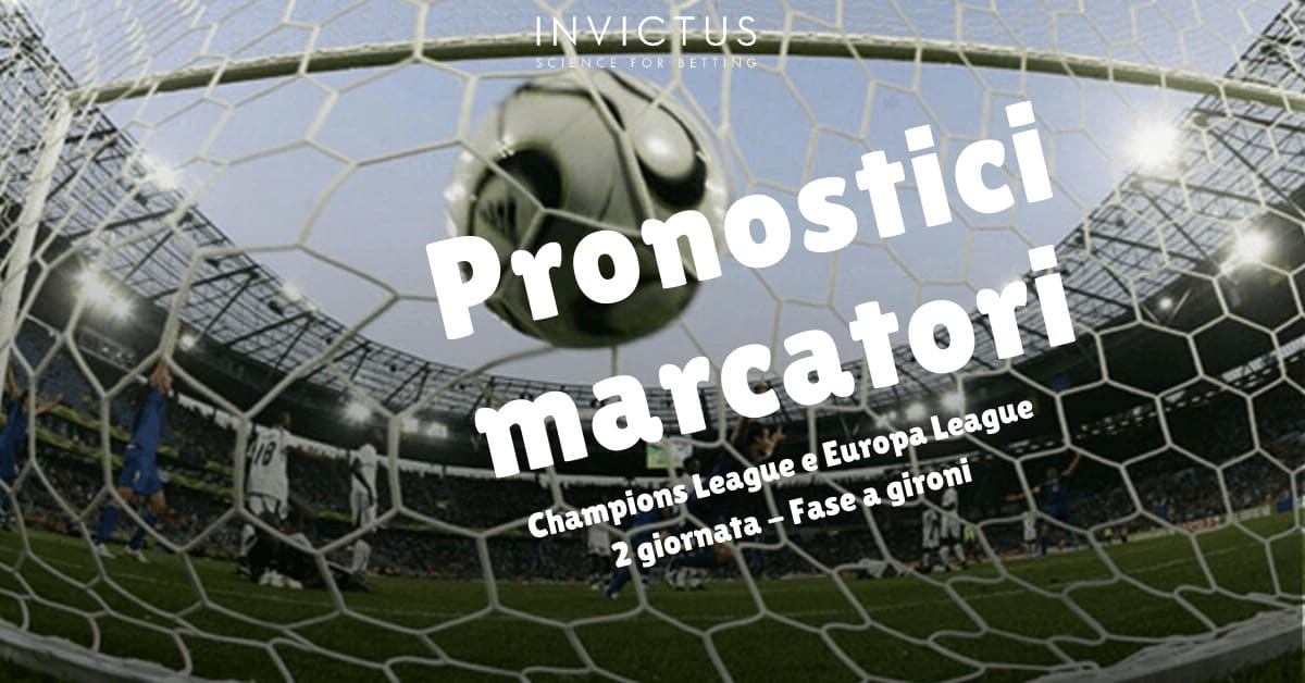 Pronostici marcatori Champions League e Europa League: 2 giornata