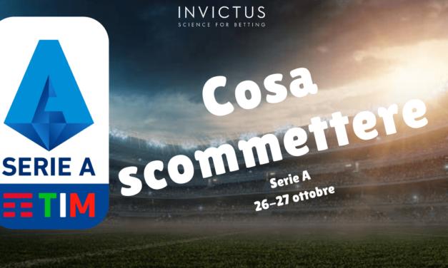 Pronostici Serie A: 26-27 ottobre