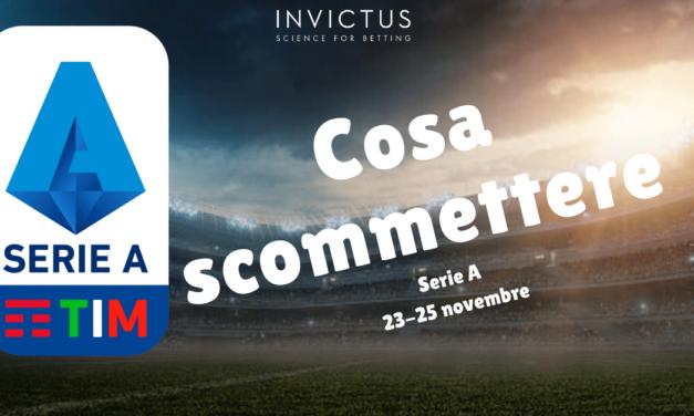 Pronostici Serie A 23 – 25 novembre