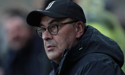 """Sarri: """"La Juventus deve stare attenta contro il Sassuolo. Con Ronaldo non c'è nessun problema"""""""