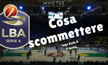 Pronostici basket Lega A: 11 turno