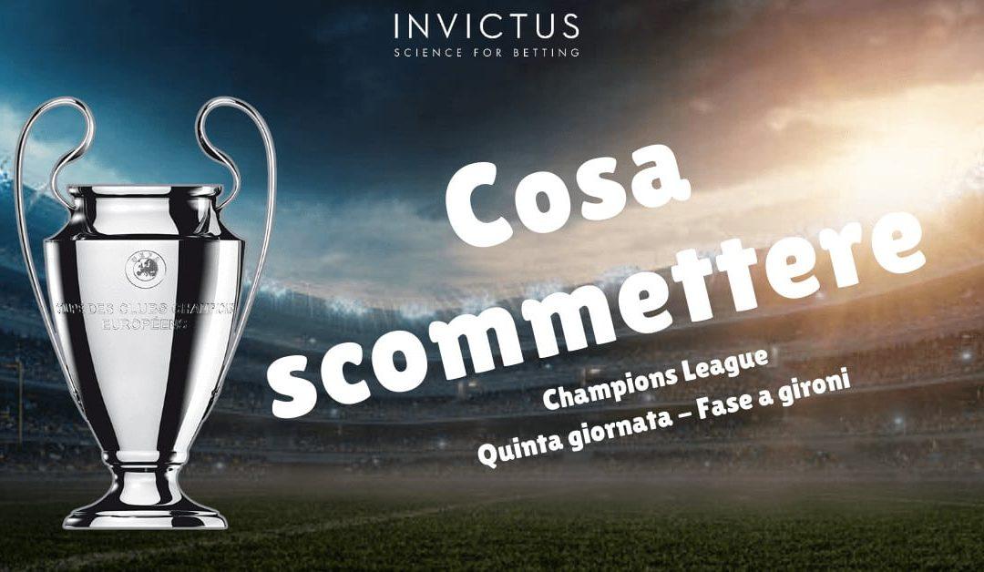 Pronostici Champions League: 5 giornata