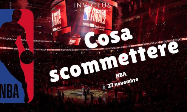 Pronostici NBA del 27 novembre