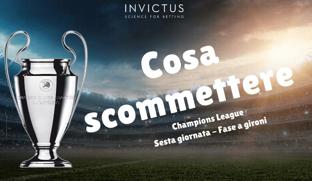 Pronostici Champions League: 6 giornata