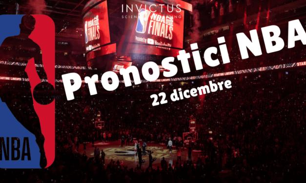 Pronostici NBA: 22 dicembre