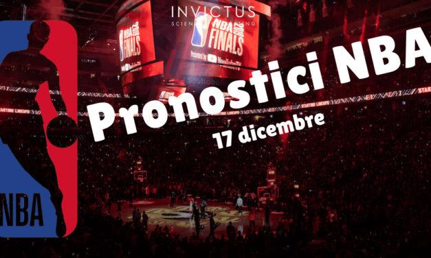 Pronostici NBA oggi: 17 Dicembre