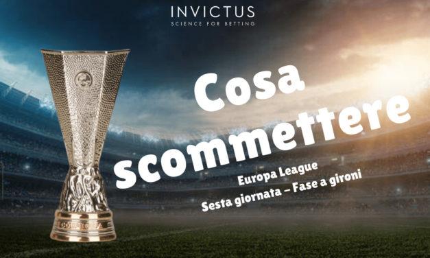 Pronostici Europa League: 6 turno
