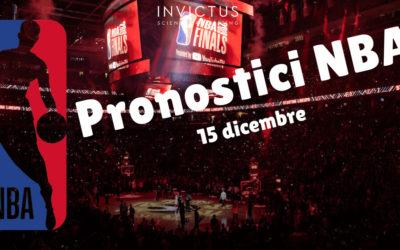 Pronostici NBA: 15 Dicembre