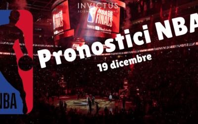 Pronostici NBA: 19 dicembre