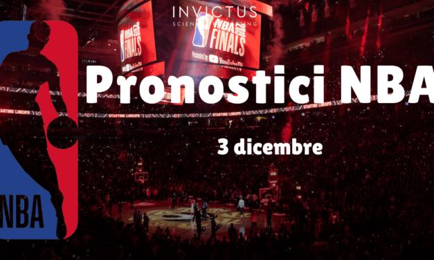 Pronostici NBA: 3 Dicembre