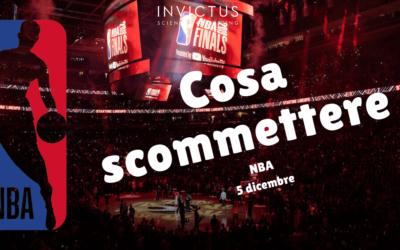 Pronostici NBA: 5 dicembre