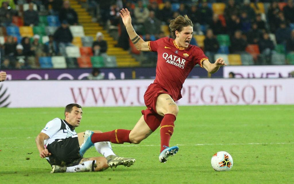 Roma: problema al ginocchio per Zaniolo, in dubbio per la Juventus