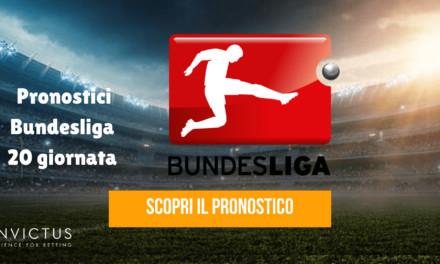 Pronostici Bundesliga: 20 giornata