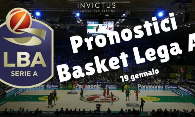 Pronostici Basket Lega A: 18 – 19 Gennaio