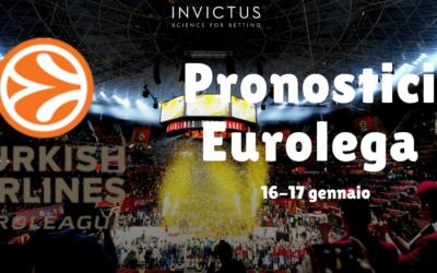 Pronostici Eurolega del 16-17 Gennaio