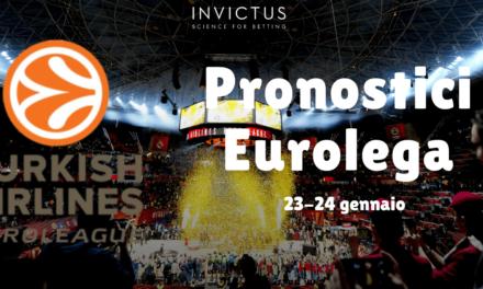 Pronostici Eurolega del 23-24 gennaio