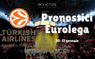 Pronostici Eurolega del 30-31 gennaio
