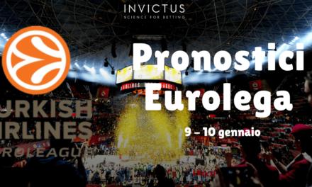 Pronostici Eurolega: 9-10 Gennaio