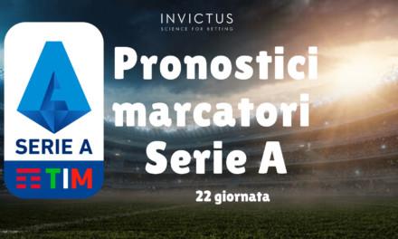 Pronostici marcatori Serie A: 22 giornata