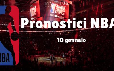 Pronostici NBA: 10 Gennaio