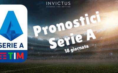 Pronostici Serie A: 18 giornata