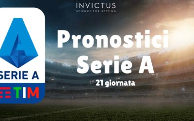 Pronostici Serie A: 21 giornata