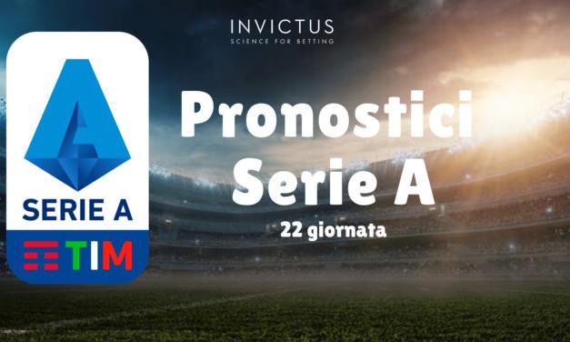 Pronostici Serie A: 22 giornata