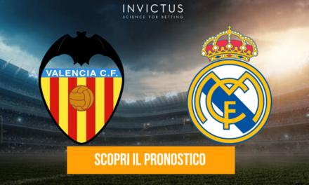 Valencia – Real Madrid: analisi tattica, statistiche e pronostico