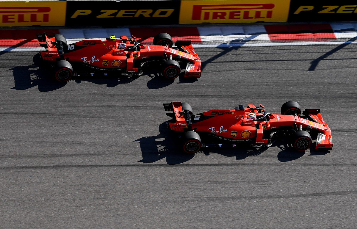 Ferrari Vettel Leclerc Hamilton