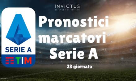Pronostici marcatori Serie A 23 giornata