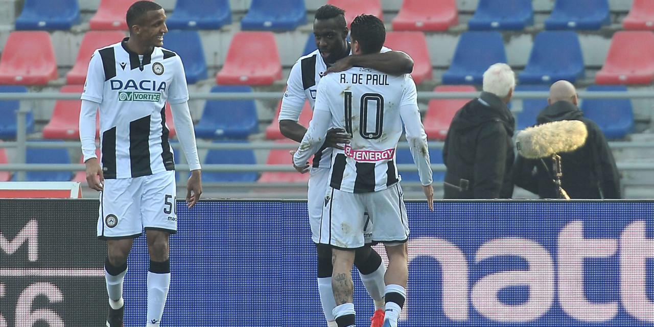 Le pagelle di Bologna-Udinese: De Paul strepitoso, bene Okaka. Palacio salva i rossoblu, deludente Orsolini