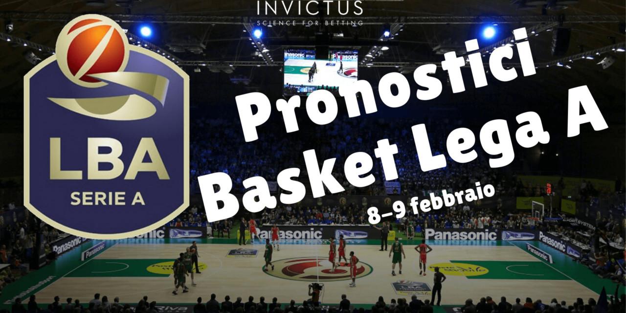 Pronostici Basket Lega A: 8 – 9 Febbraio