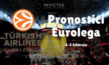 Pronostici Eurolega del 4-5 Febbraio