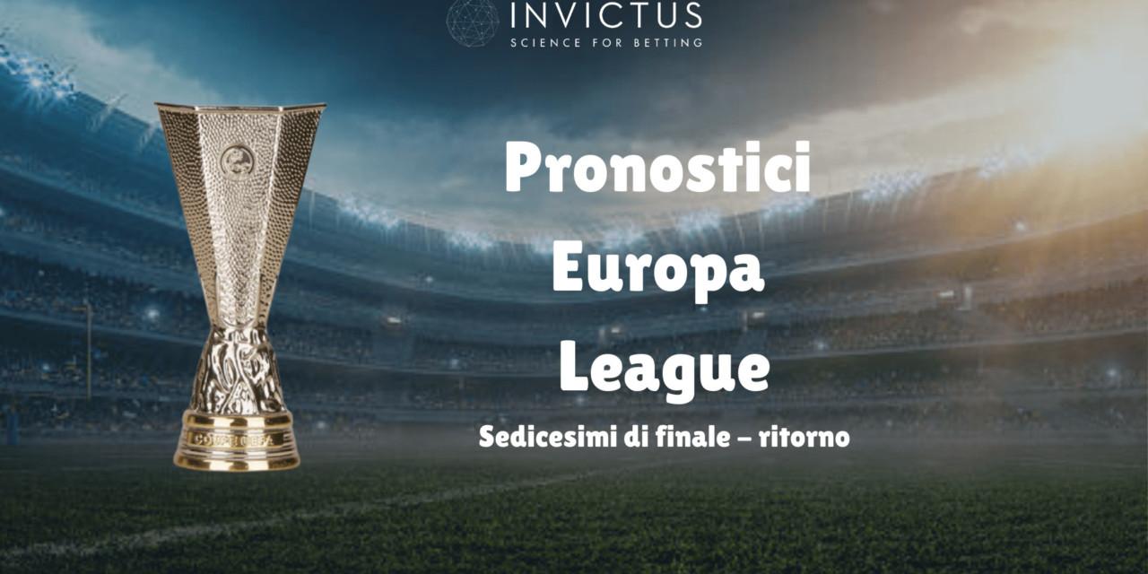 Pronostici Europa League: ritorno sedicesimi di finale