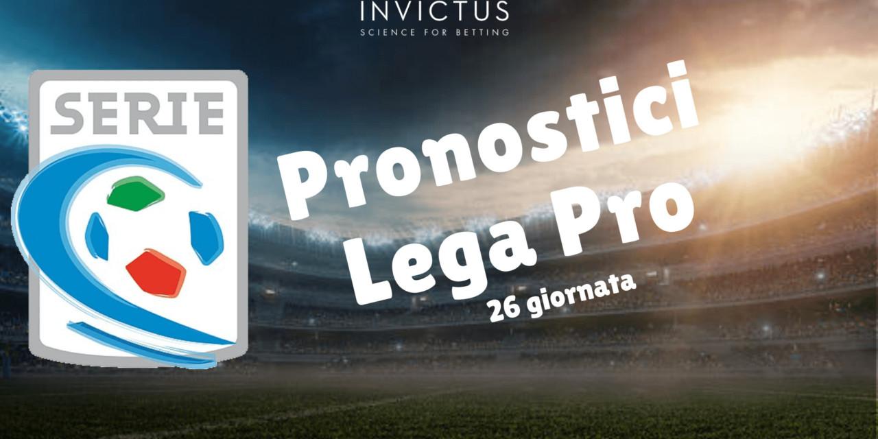 Pronostici Lega Pro: 26 giornata