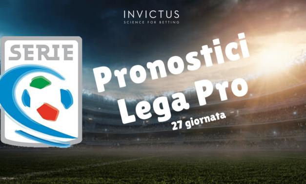 Pronostici Lega Pro: 27 giornata