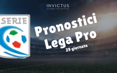 Pronostici Lega Pro: 29 giornata