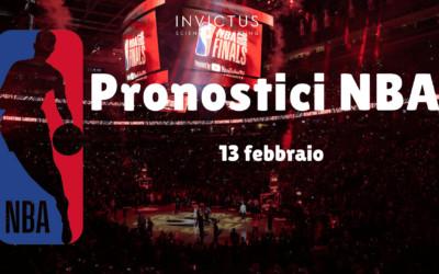 Pronostici NBA: 13 Febbraio
