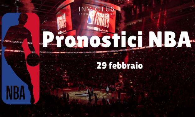 Pronostici NBA: 29 febbraio