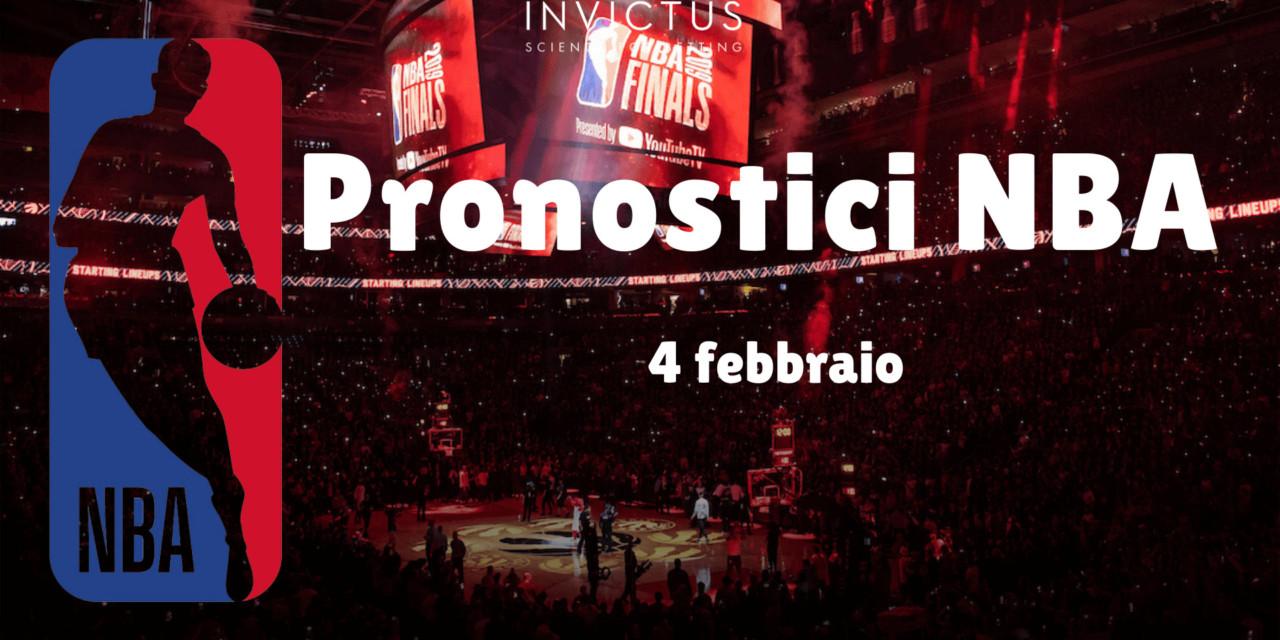 Pronostici NBA del 4 Febbraio